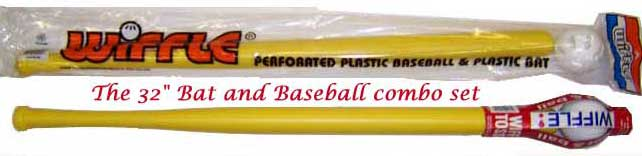 32 Inch Wiffle Ball Bat With Baseball Combo